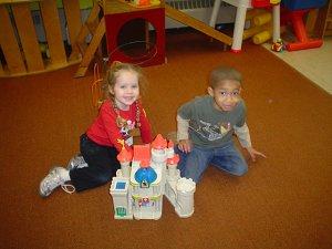 Preschoolers busy enjoying playtime